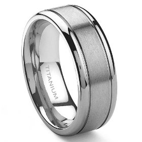 titanium wedding band engraving - Mens Wedding Rings Platinum
