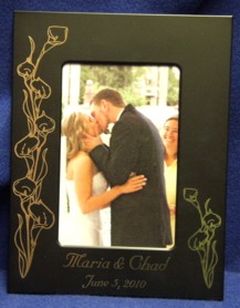 Calla Lily Black Engagement Frame
